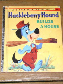 Huckleberry Hound Builds A House,  Third Printing,  Little Golden Book