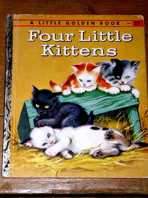 Four Little Kittens,  First Printing,  Little Golden Book