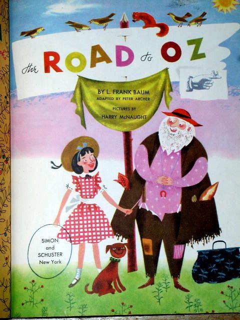 The Road To Oz,  First Printing,    Little Golden Book