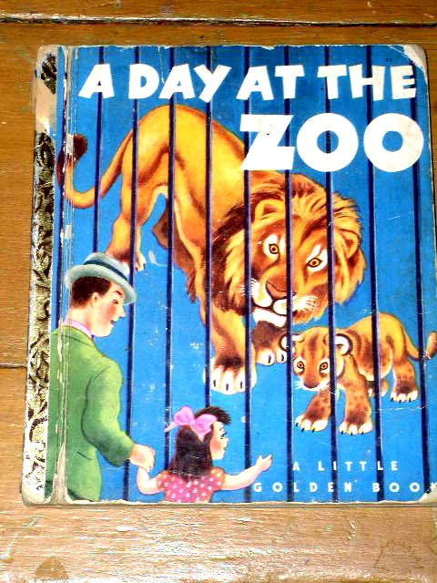 A Day At The Zoo,  First Printing,    Little Golden Book