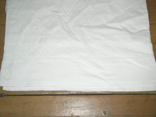 Lace Edged White Sheet