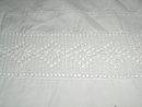 Lace Edged White Sheet