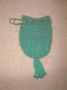Beaded Crocheted Purse