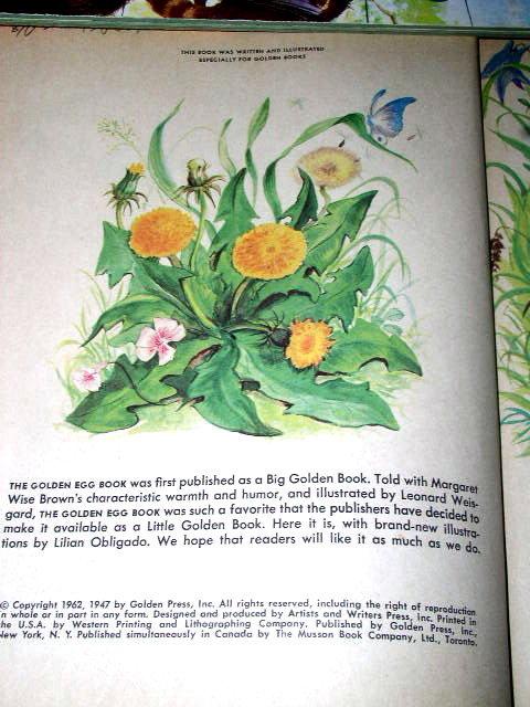 The Golden Egg Book, First Printing, Little Golden Book