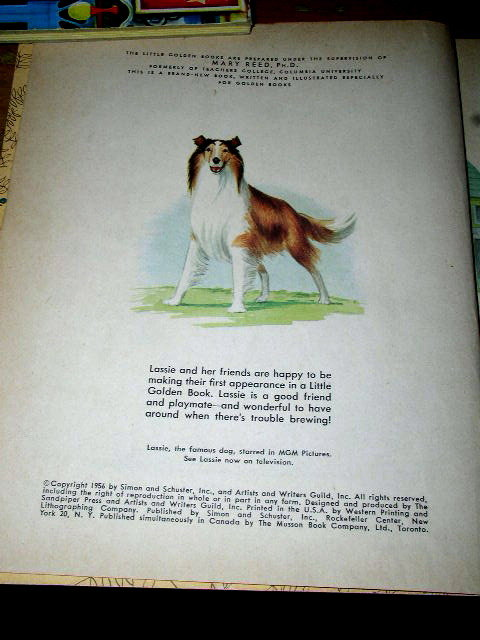 Lassie Shows the Way, First Printing, Little Golden Book
