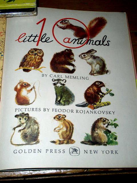 Ten Little Animals, First Printing, Little Golden Book