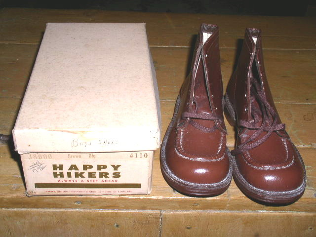Boy's  Brown  High Top Dress Shoes with Box