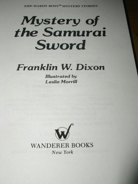 Hardy Boys,  Mystery of the Samurai Sword  Book