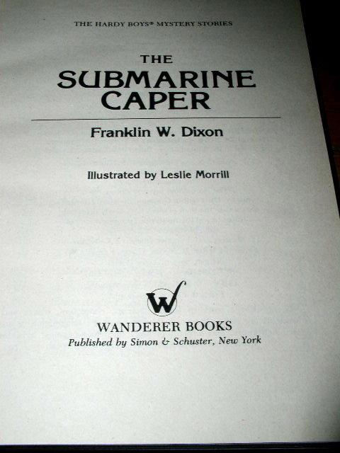Hardy Boys,  The Submarine Caper  Book