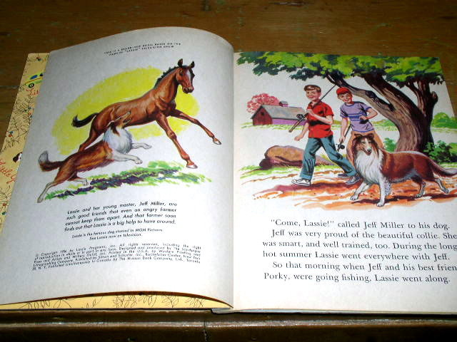 Lassie and the Daring Rescue, Little Golden Book, Third Printing