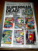 The Adventures of Superman, The Death of Superman, comic