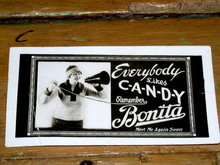Bonita Candy Advertising Card