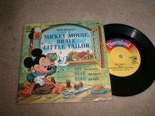 Mickey Mouse, The Brave Little Tailor Record and Book