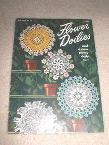 Flower Doilies Crochet Pattern Book  -  PTB