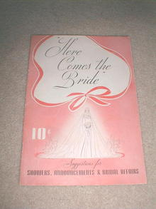 Dennison's Here Comes The Bride Booklet, 1938