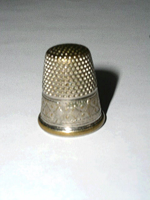 Thimble, Sterling Silver, Germany