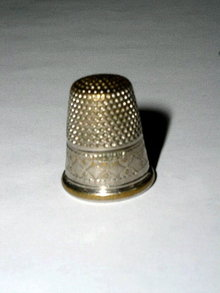 Thimble, Sterling Silver w/Gold Rim, Germany