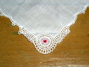 Tatted Lace Edged Handkerchief