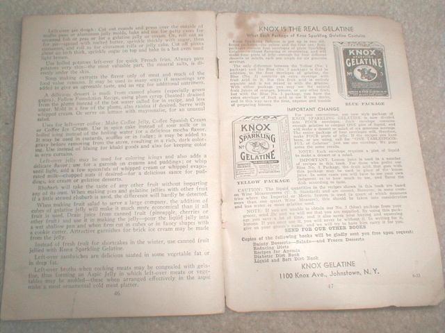 Knox Gelatine Recipe Book  -  CK