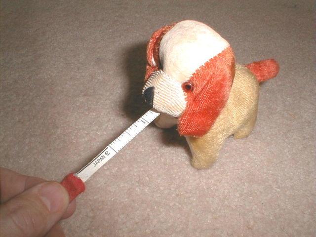 Figural Dog Tape Measure