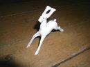 White Christmas Deer Figure