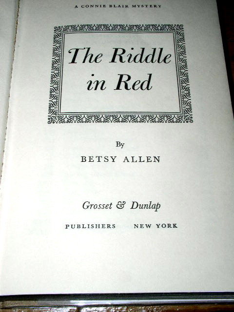 Connie Blair,  The Riddle in Red  Book