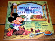 Mickey Mouse, Brave Little Tailor,  Book and Child's Record