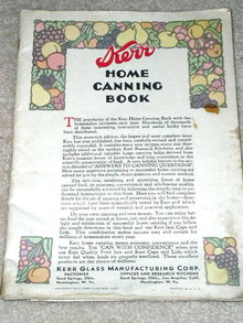 Kerr Home Canning Book   Cookbook