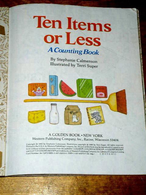 Ten Items or Less,  Little Golden Book