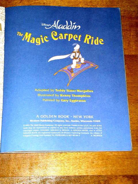 Disney's Aladdin, The Magic Carpet Ride,  Little Golden Book