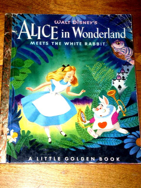 Disney's  Alice in Wonderland Meets the White Rabbit,  Little Golden Book