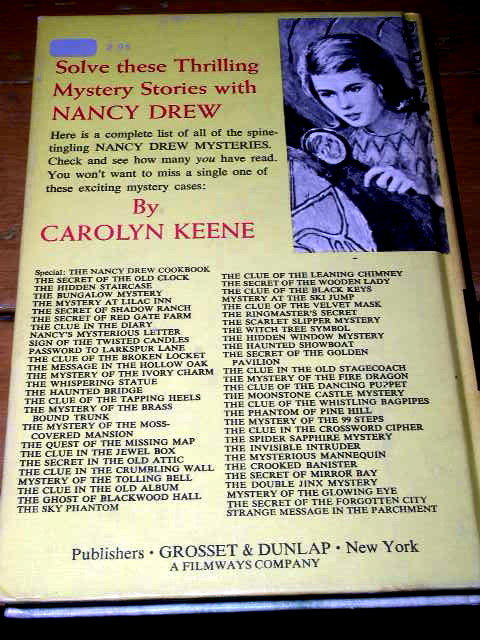 Nancy Drew,  The Mystery Of The Ivory Charm  Book