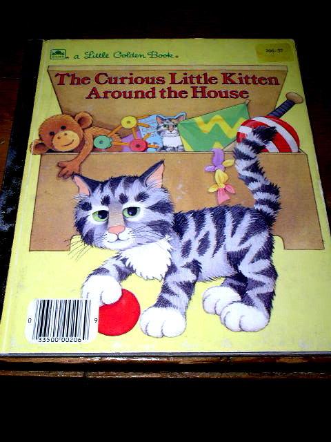 The Curious Little Kitten Around The House,  Little Golden Book
