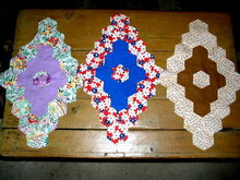Vintage Quilt Blocks, Elongated Grandmothers Flower Garden  - QB