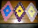 Vintage Quilt Blocks, Elongated Grandmothers Flower Garden  - QB