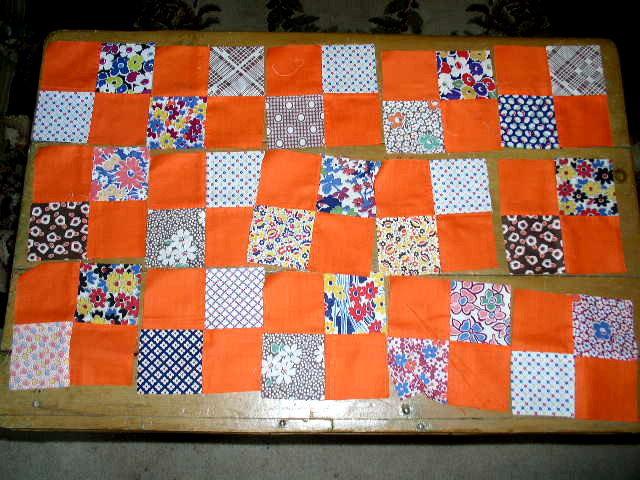 Vintage Quilt Blocks,  Four Patch   - QB
