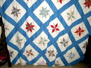 Appliqued Star Quilt Top  - QTP