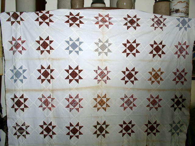 Ohio Star Quilt Top  -  QTP