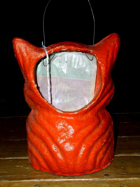 Paper Mache Full Body Cat Candy Container