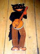 Banjo Playing Black Cat Die Cut, Halloween