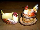Lefton Chicken Table Accessory Set
