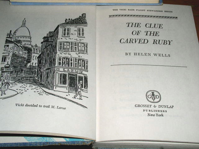 Vicki Barr Book, The Clue of the Carved Ruby