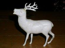 Plastic White Reindeer