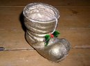 Paper Mache Boot Candy Container