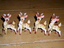 Reindeer, Plastic, Set/4