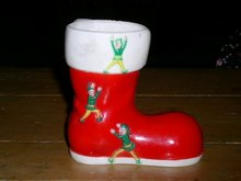 Santa Boot Candy Container
