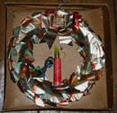 Christmas Foil Wreath in box