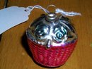 Christmas Ornament, Basket of Roses,