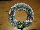 Bottle Brush Christmas Wreath