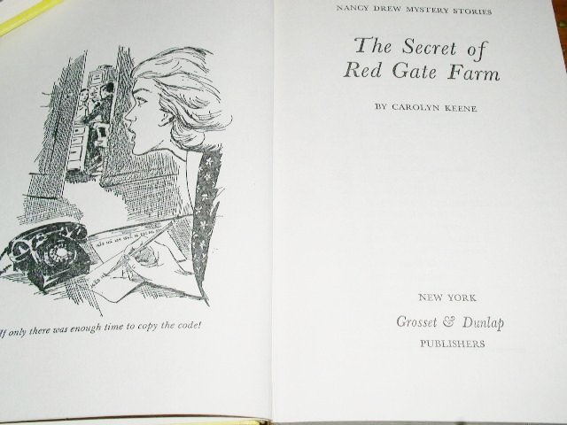 Nancy Drew,  The Secret of Red Gate Farm book